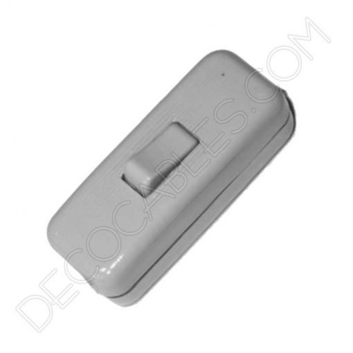 interruptor de paso decorativo gris claro para lámparas