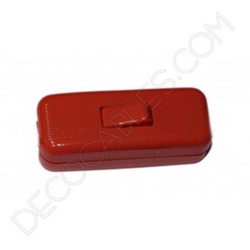 interruptor de paso decorativo rojo para lámparas