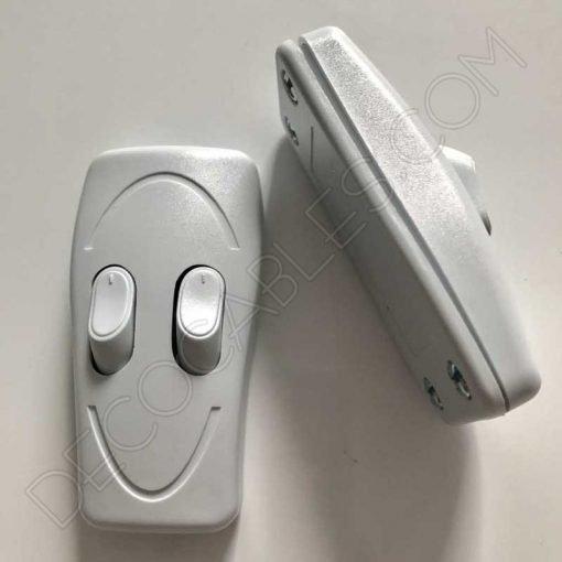 interruptor de paso doble para lámparas con focos independientes