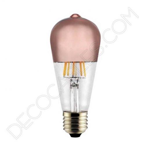 Bombilla pebetero filamento led reflectora con cúpula espejo cobre