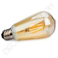 Bombilla decorativa de filamento led modelo pebetero gold cristal ámbar e27 4w