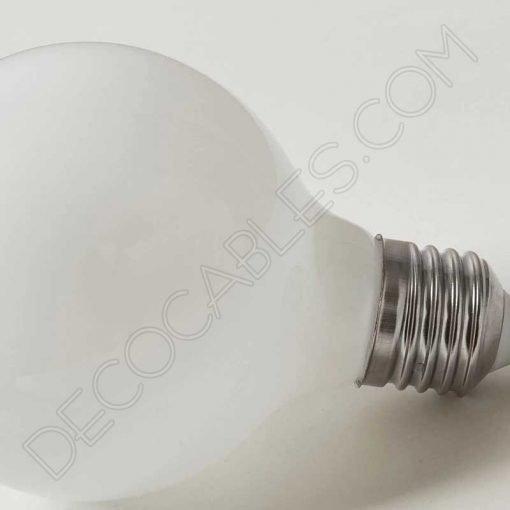 Bombilla globo led esfera cristal blanco mate E27
