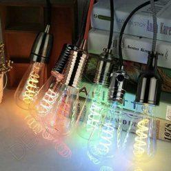 Bombilla pebetero filamento led espiral luz de colores