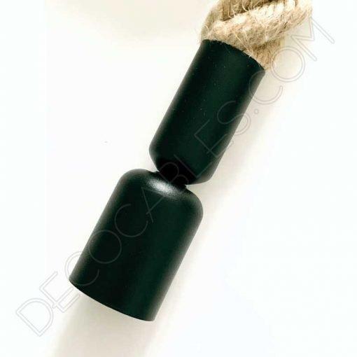 Lámpara colgante soga gruesa 30mm accesorios en negro