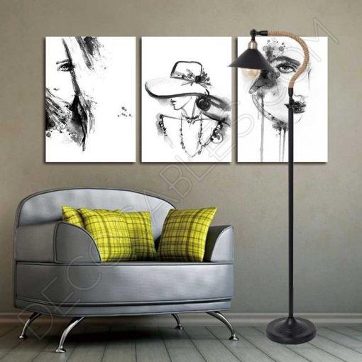 Lámpara de pie de salón rústica soga de cuerda de cáñamo
