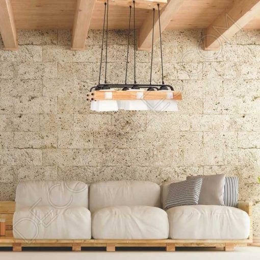 Lámpara de techo estilo nórdico contemporáneo modelo Arendal grande