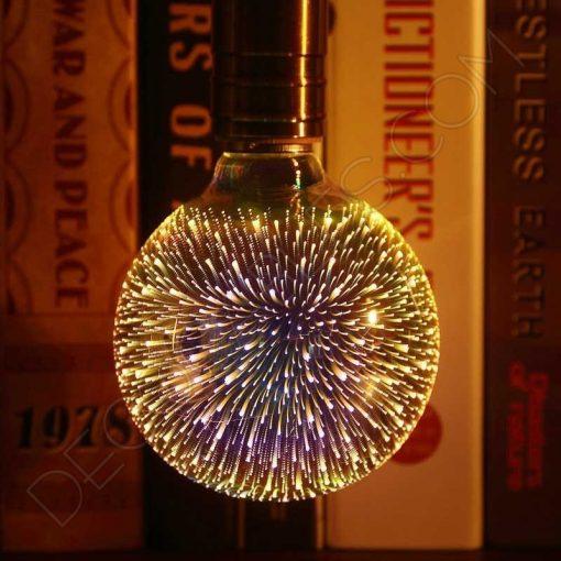 Bombilla globo led efecto fuegos artificiales 3D 4W E27