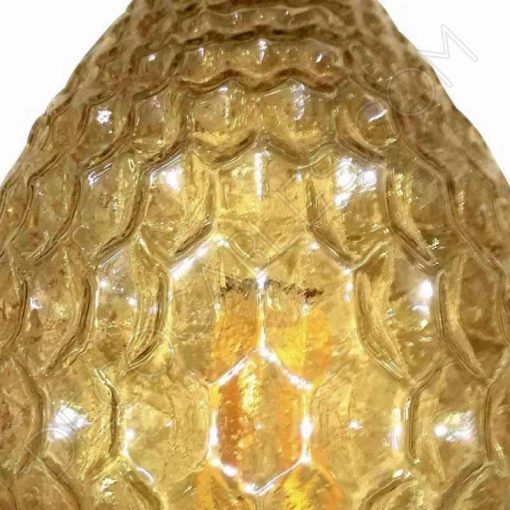 Bombilla decorativa de filamento led modelo piña efecto diamante cristal ámbar 4w