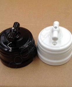 Interruptor de porcelana retro estilo vintage