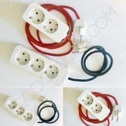 Regleta de conexión base múltiple con cable textil
