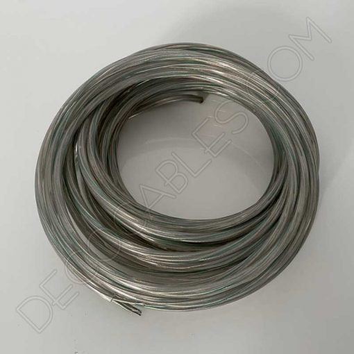 cable eléctrico de silicona transparente 3x0.75