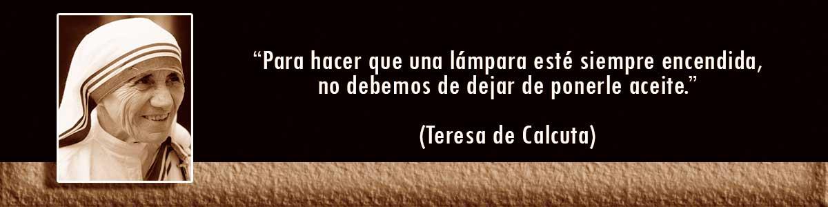 Teresa de Calcuta Lámparas Decocables