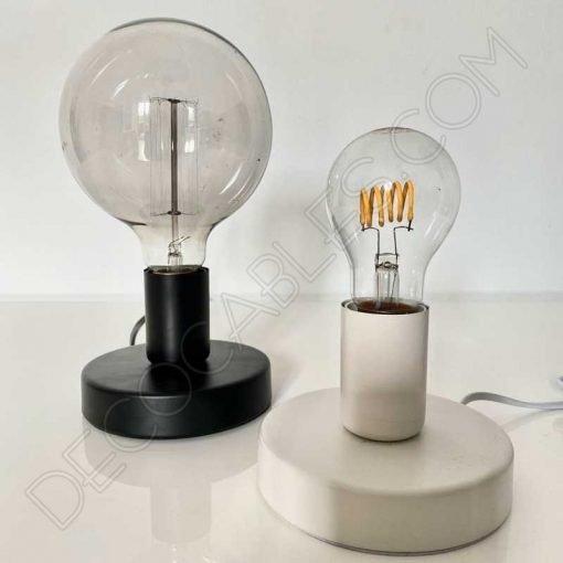Lámpara base sobremesa metálica