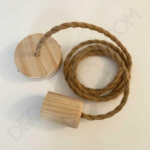 Lámpara colgante de cuerda de cáñamo trenzada