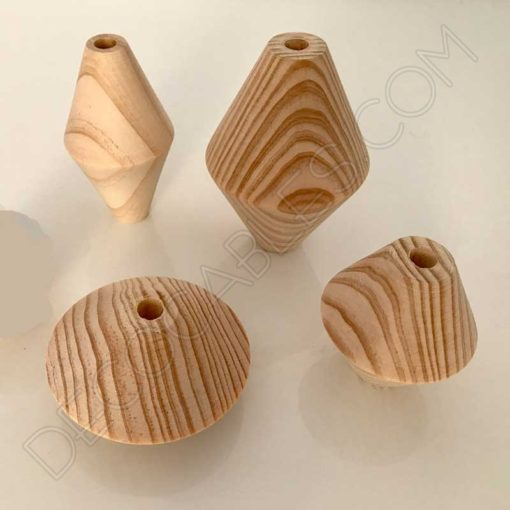 Rombos de madera para cables de lámparas